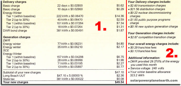 Edison electricity bill page 2