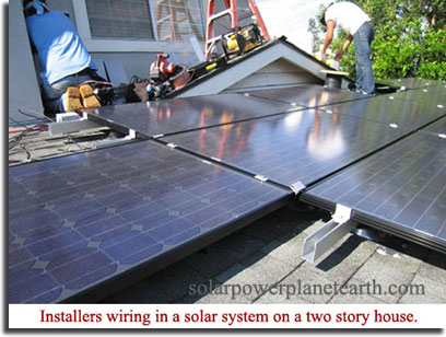 installing a solar system on a roof