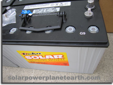 Solar Power System Deep Cycle Batteries